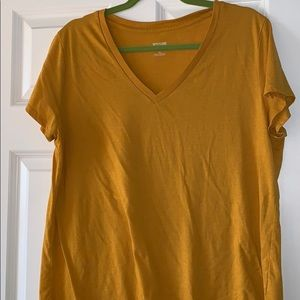 Mustard Yellow Basic V-Neck